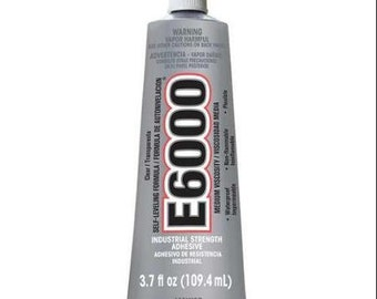 Clear E6000 3.7 oz Glue Ideal for bonding wood, fabric, leather, ceramic, glass, metal and more
