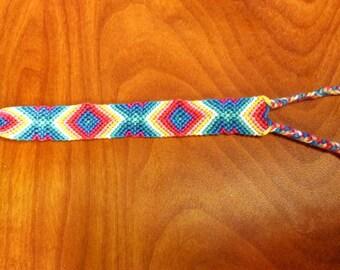 Handmade Woven Diamond Pattern Friendship Bracelet