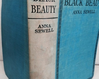 Black Beauty - Anna Sewell - 1930s horse book - vintage equestrian book - vintage classic book - Horses - Ponies
