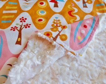 Modern Baby Blanket, Modern Baby Shower, Modern Baby Bedding, Geometric Baby Blanket, Modern Woodland Baby Blanket, Gender Neutral Baby Gift