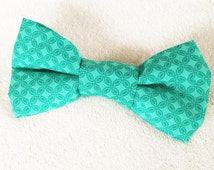 St. Patrick's Day Bowtie and Hair Bow, Brother/Sister, Daddy/Daughter, Interchangeable, Girls Headband, Kelly Green, St. Paddy's, Wedding