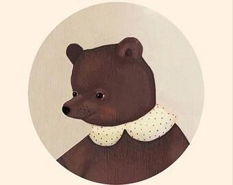 Bear,art,canvas,vintage,retro,whale,canvas painting,canvas art,print,art,vintage,cute,children's art,children's book,fairy,story,girl,boy,6