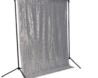 SALE! Silver sequin photo backdrop, sequence, wedding photo booth, photography, background, glitz, silver sequence fabric, curtain, diff col