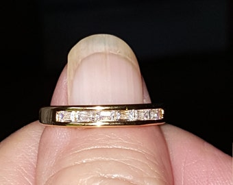 Gold tone promise ring size 6