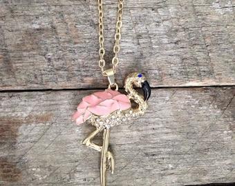 Necklace Flamingo Pink