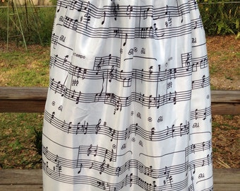 Musical note pleat skirt