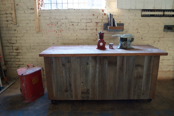 outstanding reclaimed wood kitchen island   Wood Kitchen Island Kitchen Decor Reclaimed Wood by MAXXISTORE