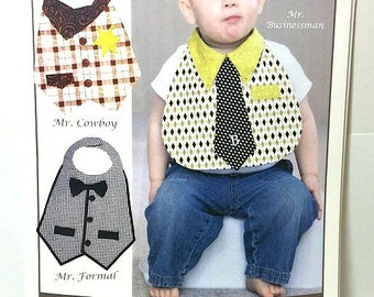 Little Man Bibs Pattern / Vanilla House Designs Pattern / Dude Babies Pattern / Sewing Pattern / Vanilla House Designs P189