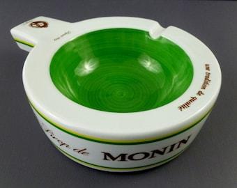 French Vintage Ashtray / Vintage Large Ceramic Monin Ashtray / Vintage French Tobacciana