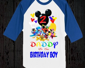 Mickey Mouse Birthday Dad Shirt