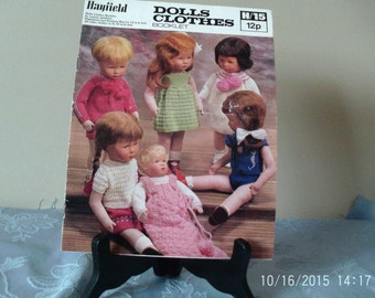 doll's clothes knitting booket