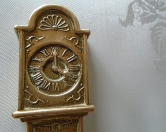 brass grandfather clock
