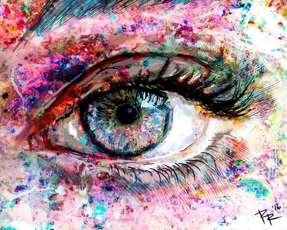 Eye Artwork Eye Art Print Eyes painting  Eye Artwork Eye...