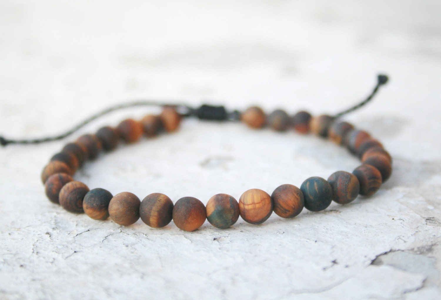 Tiger Eye Bracelet, Men Bead Bracelet, Men Good Luck Jewelry, Men Healing  Bracelet