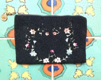 French beaded evening bag