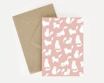 Map postal illustratrive reasons cat pink