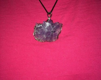 Amethyst cluster pendant