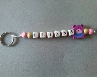 Custom wooden letters name keychain