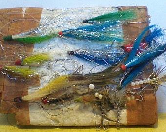 Handmade Flies, Vintage Fishing Tackle, 10 Plus Flies MUST L@@K
