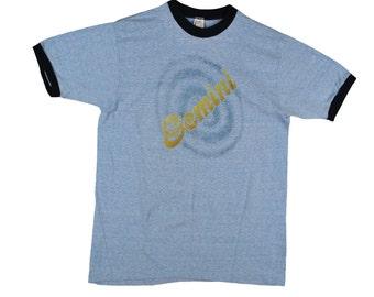 70's Vintage GEMINI SCORPIO MEN'S T Shirt Medium