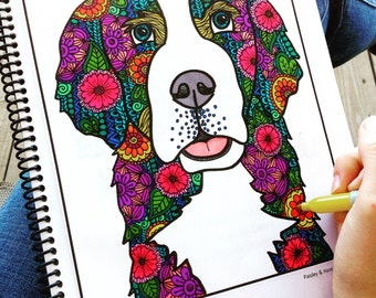 Adult Coloring Book- Animals- Printable