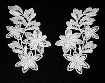 Venise Lace Front Yokes Left & Right - Sold by the pair