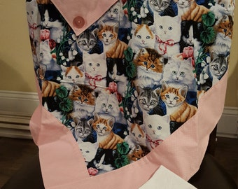 Puppy or Kitty Aprons with matching hand towels