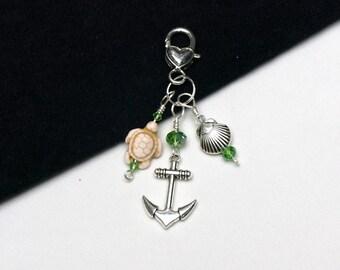 Sea Life Dangle - Anchor, Turtle, Scallop Shell