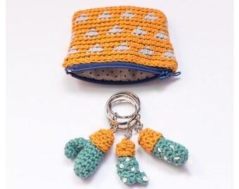 Mini  Polkadots Cactus Key chain