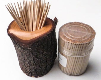 Bradford Pear Toothpick Holder