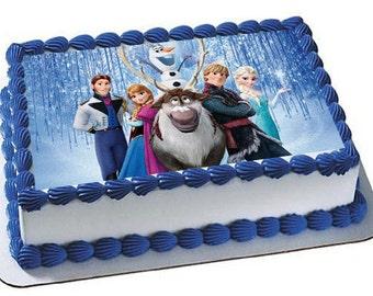Frozen Cake Topper, Frozen Edible Images, Frozen Frozen Frosting Sheet, Cake Topper, Frosting Sheet