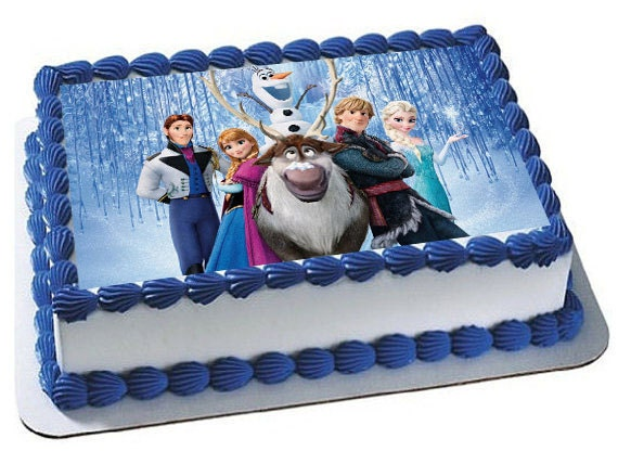 Edible Cake Pictures Frozen : Frozen Cake Topper Frozen Edible Images Frozen Frozen