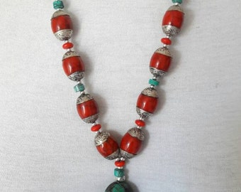 Tibetan red coral necklace