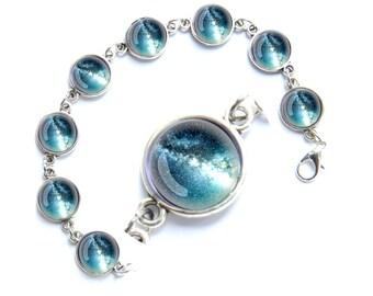 Galaxy bracelet, galaxy jewelry, nebula bracelet, stars bracelet, nebula jewelry, cosmic bracelet, interstellar bracelet, star bracelet