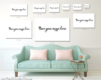 photo wall display template empty marble table and white brick wall
