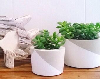 Handmade Concrete Succulent Planter (Large Size)