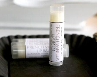 Vanilla Lip Balm, Lip Balm, French Vanilla Lip Balm, Winter Lip Care, Stocking Stuffer, Gift for Her, Skincare, Pamper Gift, Lips, Lipcare