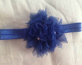 3 flower tulle headband