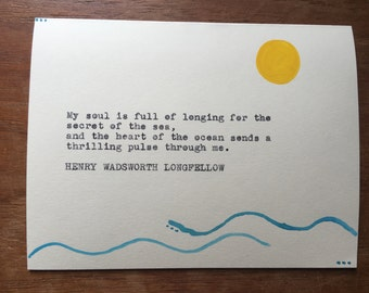 Henry W. Longfellow Ocean Greeting Card