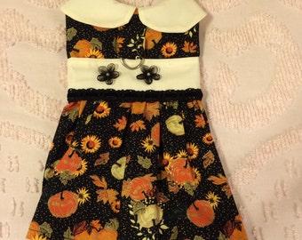 Small Harness Dress Fall Themed