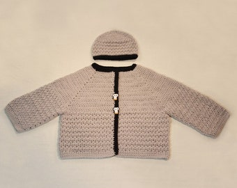 Sweater for baby boy with hat