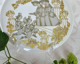 Mid Century Bjorn Wiinblad Serenade plate designed for Rosenthal