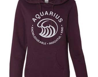 AQUARIUS  What's Your Sign Blackberry Hoodie, purple hoodie, zodiac hoodie, sign hoodie, zodiac sweatshirt, aquarius hoodie, aquarius shirt