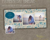 Facebook timeline cover template photo ,father day timeline