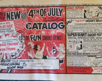 Vintage 1966 4th of July & Magic Tricks Catalog