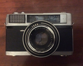 Vintage Minolta Camera with Cover c.1960