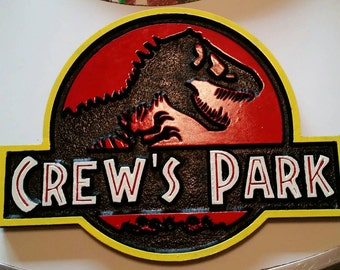 Personalized Dino Park Sign