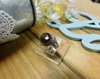Sterling Silver Fire Opal Ring