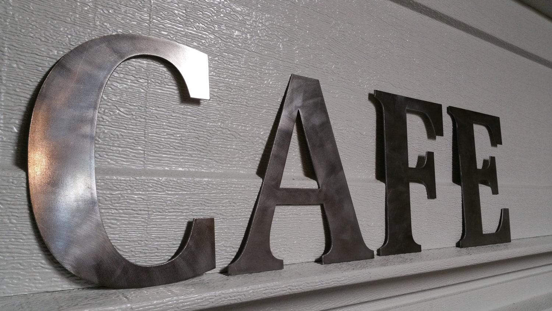 Custom Steel Letters Amazing Metal Cafe Letters  Metal Letters Metal Name Sign Custom Metal Inspiration Design
