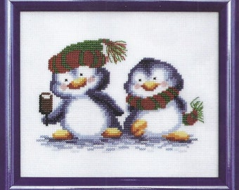 Cross Stitch Kit Penguins